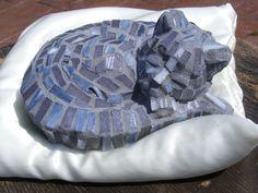 Mosaic,Sleeping Tabby Kitten