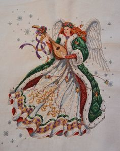 Complete Counted cross stitch Angel of Elegance by EmporiumHouse, $130.00