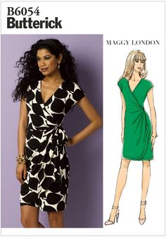 Sewing Pattern Women's Close Fit Wrap Dress Pattern, Misses' Stretch Knit Wrap Dress Pattern, Butterick Sewing Pattern 6054 - Sewing Pattern Women& Close Fit Wrap Dress Pattern, Stretch Knit Wrap Dress Pattern, Butterick Sewi Source by etsy - Easy Sewing Patterns, Vogue Patterns, Clothing Patterns, Wrap Dress Patterns, Apron Patterns, Miss Dress, Knit Wrap, Up Girl, Short Sleeve Dresses