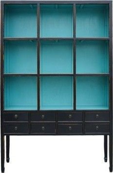 Zoe Cabinet in Aquamarine. This would be great in our basement for my crafting supplies or for our food organization! Ahh! I love it!