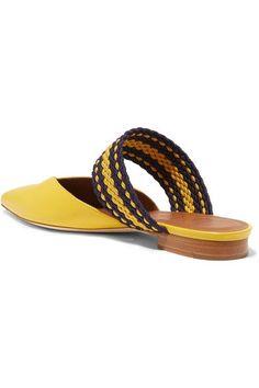 Malone Souliers - Roksanda Hannah Leather Point-toe Flats - Yellow - IT38
