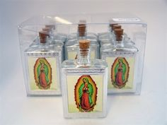 "3.25"" Glass Holy Water Bottle Favor - Guadalupe (12) 10.00"