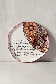 Anthropologie Lyrical Dessert Plate #anthroregistry #weddinggift