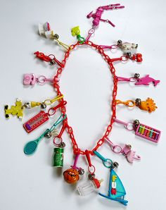 I just remembered my '80s charm necklace. Just like this, but pink. And I loved my abacus!