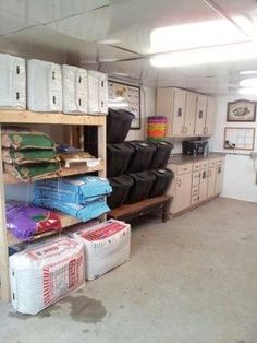 Organized feed room