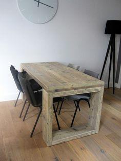 Eettafel Zuyd | steigerhout | Te koop bij w00tdesign