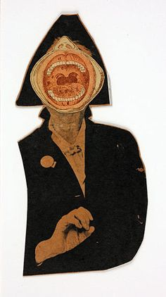 artist - Ray Johnson  Marianne Moore, 1963,   collage  6.65 x 3.25 inches  Collection of William S. Wilson