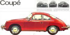 1964 Porsche 356C U.S. brochure page 8 & 9