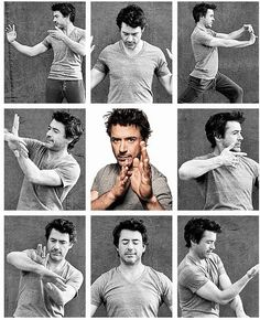 Robert Downey Jr. -- wing chun poses. < i think maybe i should make a board special for him...*sigh....can't get enough