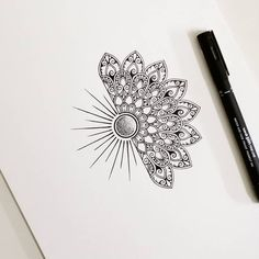 Delicate and beautiful 30 simple mandala tattoo design ideas for women Mandala Tattoo – Fashion Tattoos Mandala Tattoo Design, Simple Mandala Tattoo, Mandala Hand Tattoos, Tattoo Designs, Geometric Tattoo Ribs, Sunflower Mandala Tattoo, Paisley Tattoos, Designs Mehndi, Butterfly Mandala