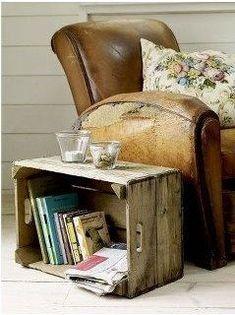 caja de madera para mesita