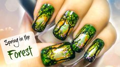 Morning in the Forest Nail Art