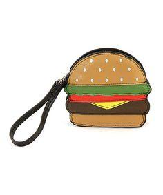 Look what I found on #zulily! Brown Hamburger Wristlet Coin Purse #zulilyfinds