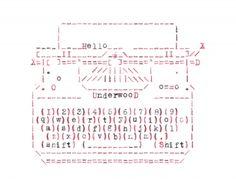Chelleline >> Typewriter ASCII cards >> Underwood Typewriter
