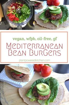 "LIVEN UP burger night with these ""Mediterranean Bean Burgers""! Healthy, whole-foods vegan burgers with flavor! plantpoweredkitchen.com 