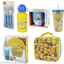 Despicable Me 2 Minions Children's Gift Cutlery Lunchbag Bottle Mug