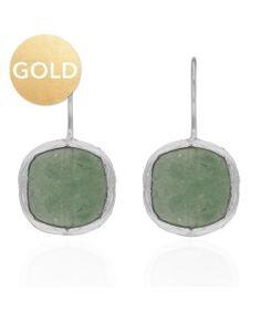 oorbel steen grijs my jewellery gold zilver