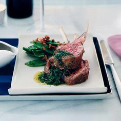Oven-Roasted Lamb Chops with Mint Chimichurri // More Tasty Lamb Dishes: http://www.foodandwine.com/slideshows/lamb #foodandwine #vday #valentines