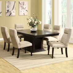 @Overstock - This seven-piece dining set will add comfort and style to your home dining experience. The table extends from 60 to 78 inches by using the 18 inch extension leaf which conveniently stores under the table top when not in use.http://www.overstock.com/Home-Garden/Charles-7-piece-Butterfly-Leaf-Dining-Set/6048067/product.html?CID=214117 $1,203.99