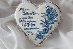 Dekorácie - Medovnikove srdce s modranskym ornamentom - 6011684_