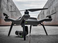 """3DR Solo Drone.  The Solo is an advanced yet simple-to-use quadcopter drone with an optional GoPro gimbal mount that offers easy modes like """"follow me"""" and """"orbit"""" that make it easier to fly & film without skill or experience. It also features open platform software giving programmers the means to customize functions. $1,000"""