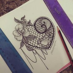 Lace tattoo rose