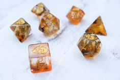Dice RPG Set of 7 'Spirit Of' Tiger Dice  Dungeons