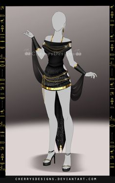 (closed) Outfit Adopt 693 - Khonsu by CherrysDesigns