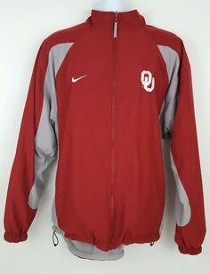 Nike Oklahoma Sooners Red Gray Reversible Jacket 2XL #Nike #OklahomaSooners