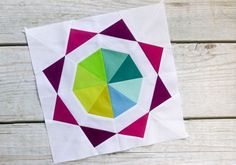 Color wheel quilt block