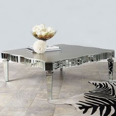 Statements By J Amelie Mirrored Coffee Table