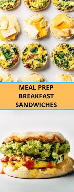 meal prep breakfast sandwiches - Spend With Penies Breakfast Sandwiches, Breakfast Recipes, Half Sheet Pan, How To Make Crepe, Keto Bagels, Substitute For Egg, Spinach, Meal Prep, Fries