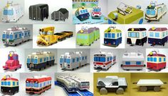 Lots of Papercraft Trains and Wagons for Kids Free Templates Download - http://www.papercraftsquare.com/lots-of-papercraft-trains-and-wagons-for-kids-free-templates-download.html#Kid, #Train, #Wagon