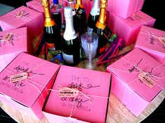 For the Love of Character: Let's Get Fancy: Megan's Bachelorette Weekend! Bachelorette party favors and hotel room setup!