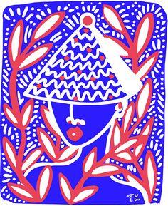 Miss Moss · Lynnie Zulu Zulu, Afro, Miss Moss, International Artist, Art And Illustration, Collage Art, Collages, Creative Art, Art Lessons