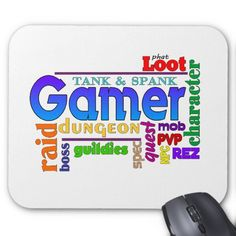 Gamer Word Art Mouse Pad