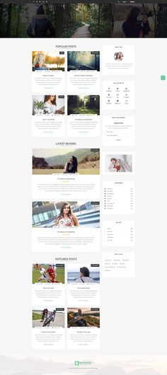 Blogging - Responsive Blog Template. The template has full-width pages,  also has