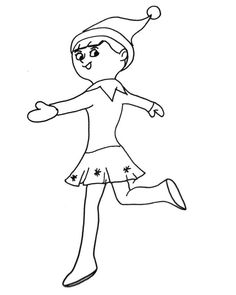 girl elf on a shelf coloring pages | Elf coloring page | Elf on the Shelf! | Christmas coloring ...