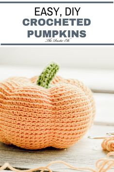 Looking for a cute, easy DIY project for fall? These crocheted pumpkins are super cute and really easy to make. Even for a beginner. Projects for couples Easy DIY Crocheted Pumpkins Crochet Diy, Crochet Fall, All Free Crochet, Crochet Home, Crochet Crafts, Crochet Ideas, Crochet Birds, Crochet Animals, Yarn Crafts