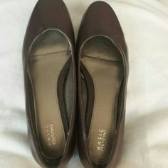 """Chocolate brown flats. These shoes were only worn once. They are in excellent condition. The heel 1/4"""". Basic Edition Shoes Flats & Loafers"""