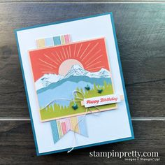 Mary Fish, Stampin Up Paper Pumpkin, Stampin Pretty, Pumpkin Cards, Heres To You, Shaped Cards, Stamping Up Cards, Coordinating Colors, Creative Cards