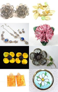 Spring - Rain, Sun, Blue Skies Make Flowers - VJSE Group Team Treasury Challenge-- Pinned with TreasuryPin.com