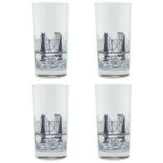 Bridge & Tunnel Glasses Gift Box of 4