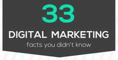 33 Digital Marketing STATS You Didn't Know! #infographic.