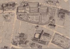 Detail from Daniel Edward Heffernan's 1861 Map Dublin Map, Dublin City, Old Pictures, Old Photos, Architecture Ireland, Dublin Street, Map Art, Historical Photos, Vintage World Maps