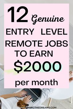 Entry-level remote jobs to start working from home. if you are looking for ways to make money from home, check this. These job ideas will help you find remote job according to your skill set. Cash From Home, Work From Home Tips, Earn Money From Home, Ways To Earn Money, Way To Make Money, Money Tips, Online Job Opportunities, Virtual Jobs, Legit Online Jobs