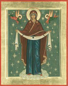 Покров Пресвятой Богородицы Symbols, Painting, Orthodox Christian Icons, Art, Fresco, Maria