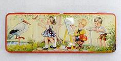 Vintage Water Colours Child's Paint Tin Made in England. Watercolour, Watercolor Paintings, Rainbow Connection, Painted Boxes, Tin Toys, Paint Set, Vintage Love, School Teacher, Rainbow Colors