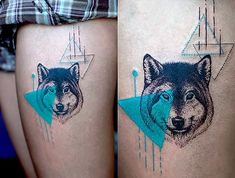 turquoise-wolf-tattoo