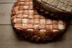 Willow bark baskets by David Drew